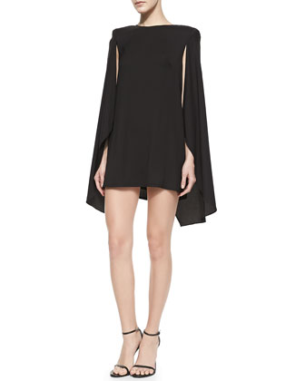 This Love Cape-Overlay Dress