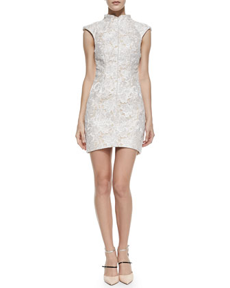 Anything Goes Mock-Neck Lace Dress
