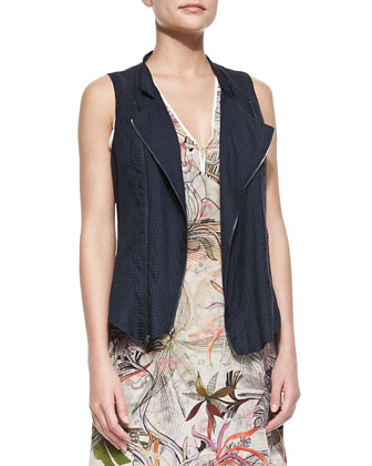 Isla Sleeveless Zipper Vest