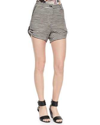 Madison Striped Roll-Up Shorts