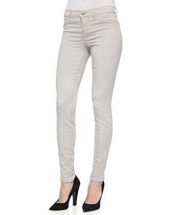485 Luxe Sateen Skinny Jeans, Concrete Dust