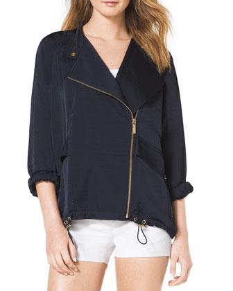 Oversize Front-Zip Jacket