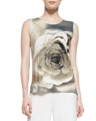 Watercolor Rose Tank, Women's