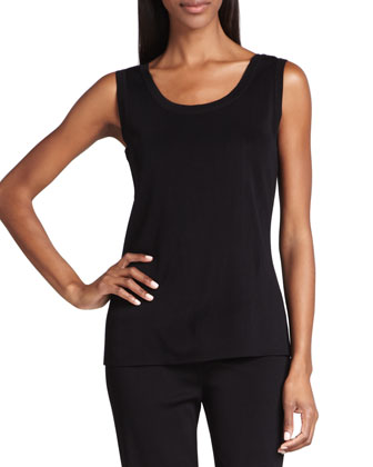 Amy Slim Tank, Black, Women's