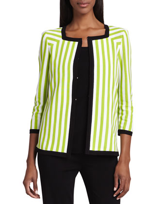 Gloria Striped Jacket, Amy Slim Tank & Palazzo Fit-&-Flare Pants, Women's