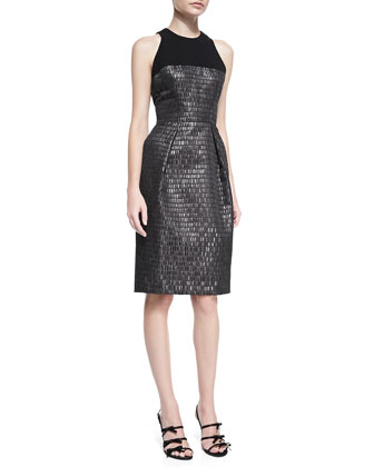 Sleeveless Textured Cocktail Dress