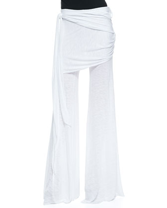 Marina Fold-Over Side-Tie Pants
