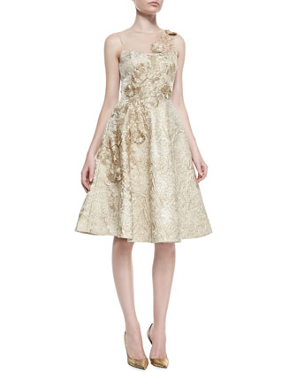 Sleeveless Embroidered Detail Cocktail Dress