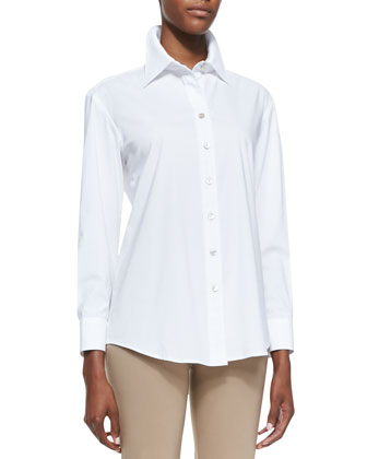 Barret Relaxed Button-Up Blouse