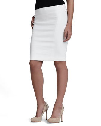 Back-Zip Pencil Skirt