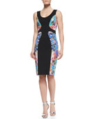 Annabella Gem-Stone-Print Sheath Dress