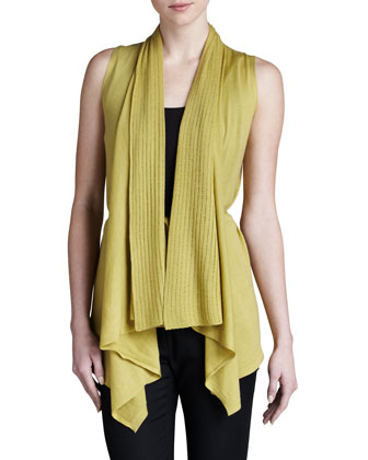 Tie-Front Sleeveless Cozy