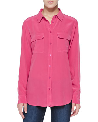 Slim Signature Silk Blouse