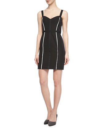 Joy Sheath Dress with Two Stripes