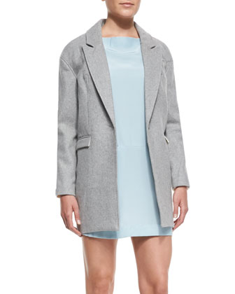No Light Contrast-Back One-Button Coat