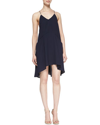 Broken Strings Jersey V-Neck Dress