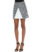 Move On Jersey Leopard-Print Skirt