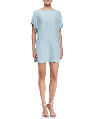 Insomnia Crepe Boat-Neck Dress