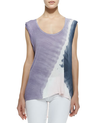Piper Jersey Scoop-Neck Top