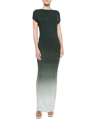 Jaxon V-Back Ombre Maxi Dress