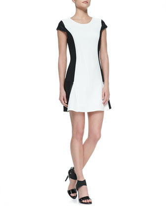 Yours For Life Colorblock Cap-Sleeve Dress