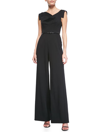 Jackie Asymmetric Wide-Leg Jumpsuit