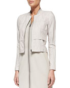 Willow Cropped Zip-Front Jacket