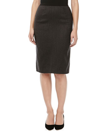 Pencil Skirt with Knife Pleats
