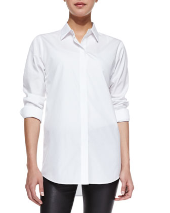 Nareen Poplin Button-Front Shirt