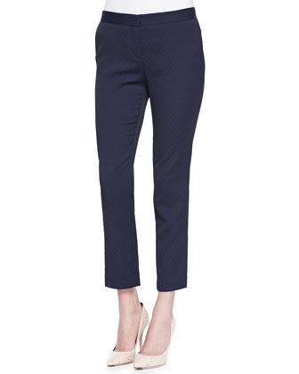 Item Cropped Stretch-Jacquard Pants