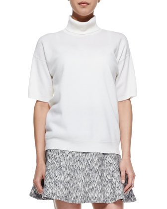 Gredda Short-Sleeve Turtleneck Sweater