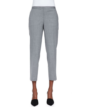 Gentaire Sleeveless Double-Layer Silk Top & Betoken Cropped Suit Pants
