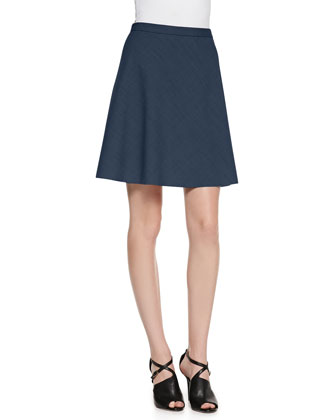 Zulle A-Line Suiting Skirt