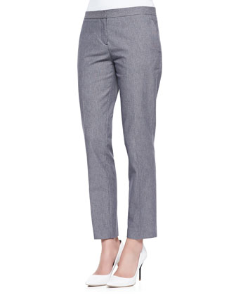 Mirzi Banded-Trim Knit Sweater & Item Cropped Houndstooth Suit Pants