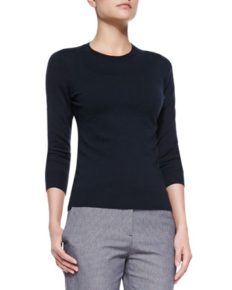 Mirzi Banded-Trim Knit Sweater
