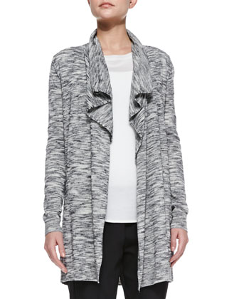 Trincy C Space-Dye Open Cardigan, Landran Boat-Neck Knit Sweater & Korene ...