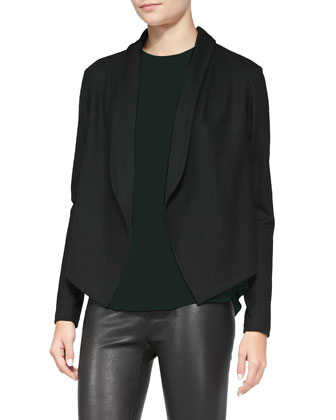 Nove Open-Front Blazer Cardigan, Bringam Long Jewel-Neck Shell & Pitella ...