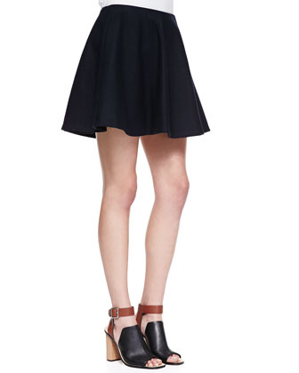 Merlock Pleated Short Skirt