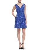 dawson cyber cheetah & leopard-print dress