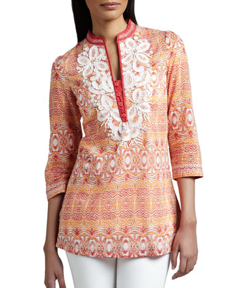 Embellished Cotton Tunic