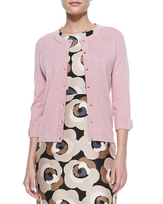 somerset knit button-down cardigan, rose jade