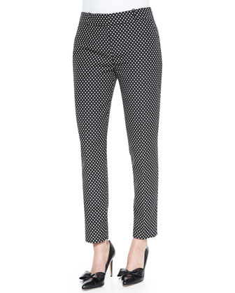 margaux cafe dot cropped pants