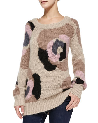 deco rose mohair sweater
