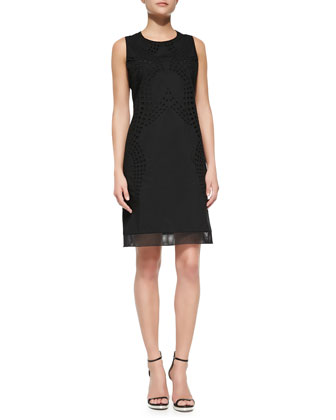 Fran Sleeveless Eyelet Lace Dress