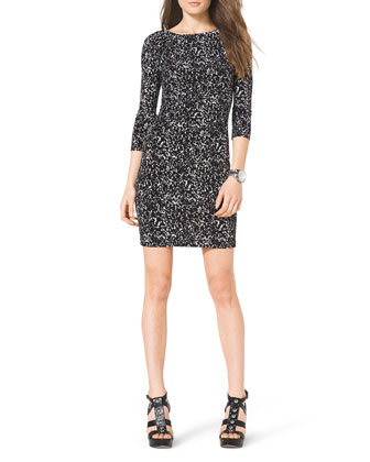 Slim Printed Jersey Dress