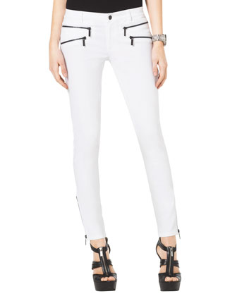 Skinny Ankle Zip Jeans
