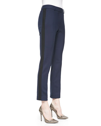 milo short-sleeve sequined sweatshirt & margaux cropped tuxedo pants