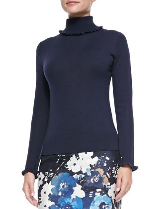 bekki ruffle-trim turtleneck sweater