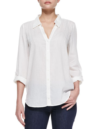 Millicent Sheer Cotton-Voile Blouse