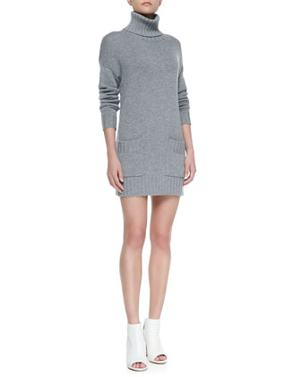 Gabrilyn Long-Sleeve Pea Coat & Shera B Knit Sweater Dress